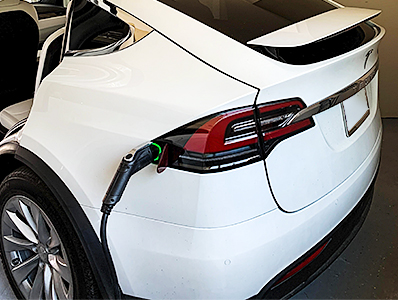 Electric Car Charging Station in Garage